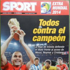 Coleccionismo deportivo: REVISTA GUIA DIARIO SPORT EXTRA MUNDIAL 2014 BRASIL - SUPLEMENTO ESPECIAL COPA DEL MUNDO 14. Lote 43741439