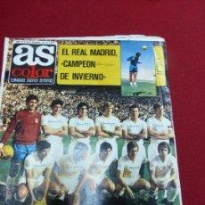 Coleccionismo deportivo: AS COLOR Nº 32 EL REAL MADRID CAMPEON DE INVIERNO POSTER CENTRAL URTAIN AÑO 1971. Lote 43819115