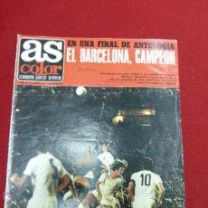 Coleccionismo deportivo: REVISTA AS COLOR Nº 7 BARÇA CAMPEÓN COPA DEL REY 1971 VALENCIA CF-MERKEL-MICHELS - PÓSTER SEVILLA CF. Lote 43819197