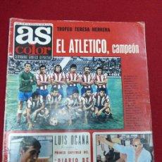 Coleccionismo deportivo: AS COLOR-Nº 116-07/08/1973-MERKEL-KUBALA )- OCAÑA-75 ANIV. ATHLETIC DE BILBAO-PÓSTER F.C. BARCELONA. Lote 43819329