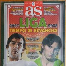 Coleccionismo deportivo: REVISTA EXTRA DIARIO AS GUIA LIGA 2007-2008 - SUPLEMENTO ESPECIAL TEMPORADA FUTBOL 07/08 CAMPEONES. Lote 43856010