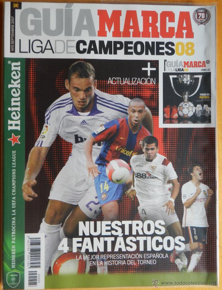 EXTRA MARCA GUIA LIGA DE CAMPEONES 07/08 - ACTUALIZACION LIGA 2007/2008 - ESPECIAL CHAMPIONS LEAGUE (Coleccionismo Deportivo - Revistas y Periódicos - Marca)
