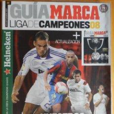 Coleccionismo deportivo: EXTRA MARCA GUIA LIGA DE CAMPEONES 07/08 - ACTUALIZACION LIGA 2007/2008 - ESPECIAL CHAMPIONS LEAGUE. Lote 43878283