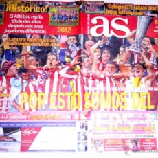 Coleccionismo deportivo: PERIODICO AS FUTBOL ATLETICO DE MADRID CAMPEON EUROPA LEAGUE UEFA 3 - 0 ATHLETIC BILBAO. Lote 44087682