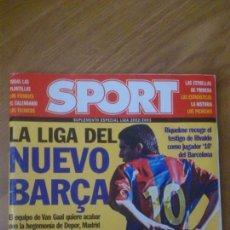 Coleccionismo deportivo: GUIA SPORT LIGA TEMPORADA 2002-2003 02-03. Lote 44118465