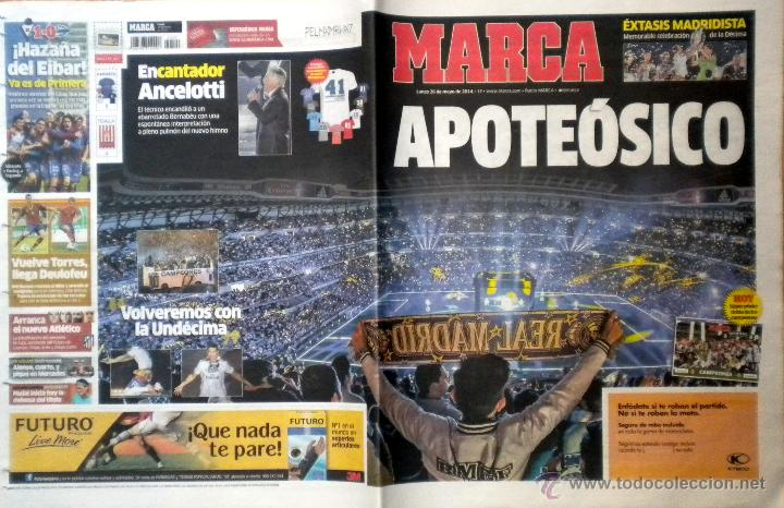 MARCA REAL MADRID LA DECIMA CAMPEON COPA DE EUROPA UEFA CHAMPIONS LEAGUE (Coleccionismo Deportivo - Revistas y Periódicos - Marca)