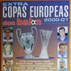Coleccionismo deportivo: REVISTA EXTRA COPAS EUROPEAS 2000-2001 GUIA DON BALON CHAMPIONS LEAGUE UEFA 00/01 LIGA CAMPEONES. Lote 44439574