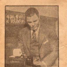 Coleccionismo deportivo: DEMPSEY,40DIAS 40ASES 40 BIOGRAFIAS, DE MARCA 24 DE AGOSTO 1963. Lote 44733805
