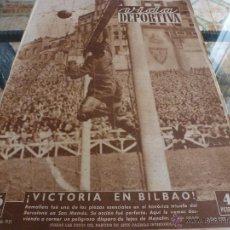 Coleccionismo deportivo: (LLL)VIDA DEPORTIVA Nº:297(22-5-51)VUELTA COPA BILBAO 1 BARÇA 2 Y R.MADRID 0 R.SOCIEDAD 2-FOTOS. Lote 184377487