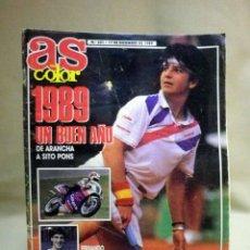 Coleccionismo deportivo: REVISTA DE DEPORTES, AS COLOR, Nº 201, DICIEMBRE 1989, ARANCHA SANCHEZ VICARIO, FERNANDO MARTIN. Lote 44944214
