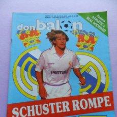 Coleccionismo deportivo: REVISTA DON BALON Nº 670 1988/1989 POSTER DOBLE ATHLETIC CLUB BILBAO REAL SOCIEDAD 88/89 PLANTILLA. Lote 45138462