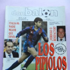 Coleccionismo deportivo: DON BALON Nº 694 POSTER GORDILLO REAL MADRID LIGA 88/89-JESUS GIL-LUIS SUAREZ-MILLA 1989. Lote 45138802