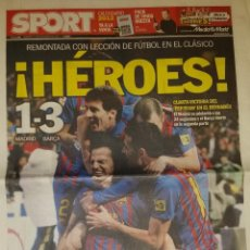 Coleccionismo deportivo: REAL MADRID 1 FC BARCELONA 3 - HÉROES. Lote 45226066