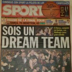 Coleccionismo deportivo: FINAL FOUR 2003 - BARÇA 76 BENETTON 65. Lote 45226106