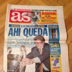 Coleccionismo deportivo: PERIODICO AS JUGOVIC JUGADOR ATLETICO HEYNCKES REAL MADRID LA SEPTIMA 29 MAYO 1998. Lote 45478279