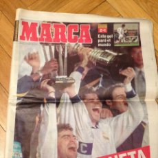 Coleccionismo deportivo: PERIODICO MARCA CAMPEON COPA INTERCONTINENTAL REAL MADRID VASCO DE GAMA GOLAZO RAUL 1998. Lote 45478478