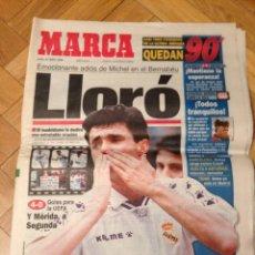 Coleccionismo deportivo: DIARIO MARCA DESPEDIDA MICHEL REAL MADRID MERIDA 20 MAYO 1996 BERNABEU. Lote 45478678