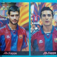 Coleccionismo deportivo: COLECCION SPORT FABRICA DE CAMPEONES DEL BARCELONA PRIMERA EDICION 1996 LIBRO Y 22 LAMINAS. Lote 45931348