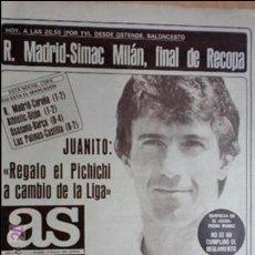 Coleccionismo deportivo: AS-1984-Nº5112-JUANITO-. Lote 21126353