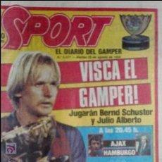 Coleccionismo deportivo: SPORT-1985-Nº2077-48 PAGINAS-CRUYFF-SCHUSTER-VENABLES-ARCHIBALD-JULIO ALBERTO-NETZER-KRANKL. Lote 21148345