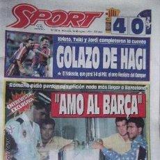 Collectionnisme sportif: SPORT-Nº5314-AG 94-COMP 64 PAG-HAGI-ROMARIO-CRUYFF-BEBETO-MARADONA-POSTER,BARSA 93-94-. Lote 24488994