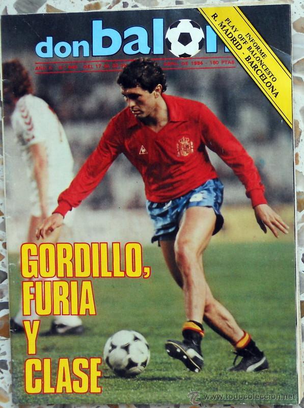 DON BALON Nº445 ABRIL 1984 ESPAÑA - DINAMARCA GORDILLO FUTBOL VINTAGE. (Coleccionismo Deportivo - Revistas y Periódicos - Don Balón)
