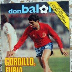 Coleccionismo deportivo: DON BALON Nº445 ABRIL 1984 ESPAÑA - DINAMARCA GORDILLO FUTBOL VINTAGE.. Lote 45873342