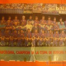 Coleccionismo deportivo: POSTER DON BALON- BARCELONA CAMPEON COPA EUROPA 91-92. Lote 45917373