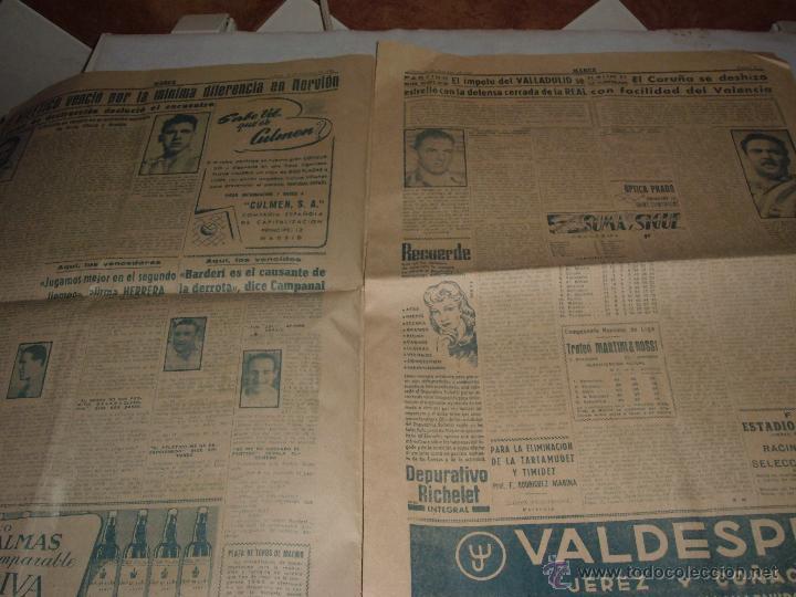 Coleccionismo deportivo: ANTIGUO PERIODICO MARCA, 1950 - Foto 2 - 45986818