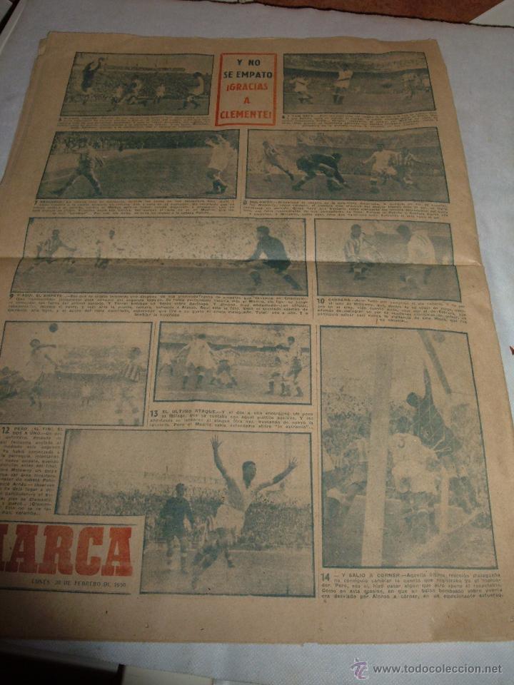 Coleccionismo deportivo: ANTIGUO PERIODICO MARCA, 1950 - Foto 3 - 45986818
