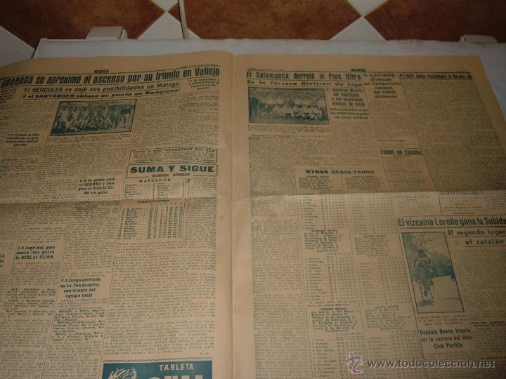 Coleccionismo deportivo: ANTIGUO PERIODICO MARCA, 1949 - Foto 3 - 45986823
