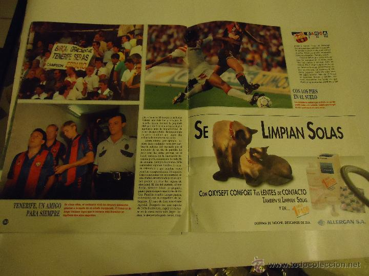 Coleccionismo deportivo: REVISTA BARCA FUTBOL CLUB BARCELONA TRICAMPEON . - Foto 2 - 46082857