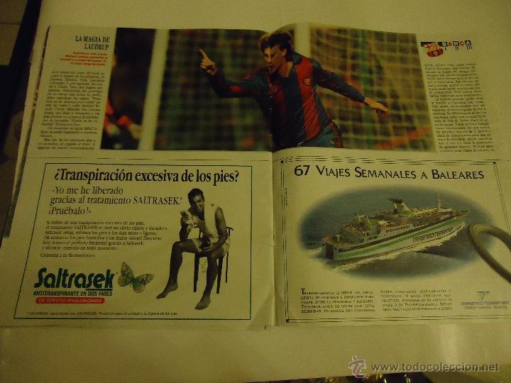 Coleccionismo deportivo: REVISTA BARCA FUTBOL CLUB BARCELONA TRICAMPEON . - Foto 3 - 46082857