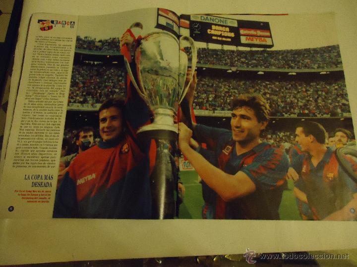 Coleccionismo deportivo: REVISTA BARCA FUTBOL CLUB BARCELONA TRICAMPEON . - Foto 12 - 46082857