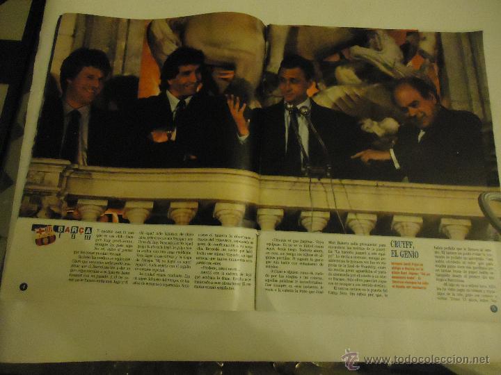 Coleccionismo deportivo: REVISTA BARCA FUTBOL CLUB BARCELONA TRICAMPEON . - Foto 14 - 46082857