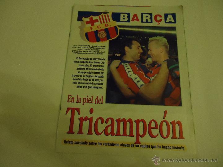 Coleccionismo deportivo: REVISTA BARCA FUTBOL CLUB BARCELONA TRICAMPEON . - Foto 16 - 46082857