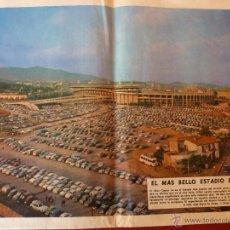 Coleccionismo deportivo: FOTO CAMP NOU 1968 (F.C.BARCELONA) CONTRAPORTADA ORIGINAL EL MUNDO DEPORTIVO. Lote 46137664