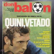 Coleccionismo deportivo: REVISTA DON BALON Nº 294 - AÑO VII 26 MAYO AL 1 JUNIO DE 1981 - INCLUYE POSTER DEL CASTELLON.. Lote 46149347