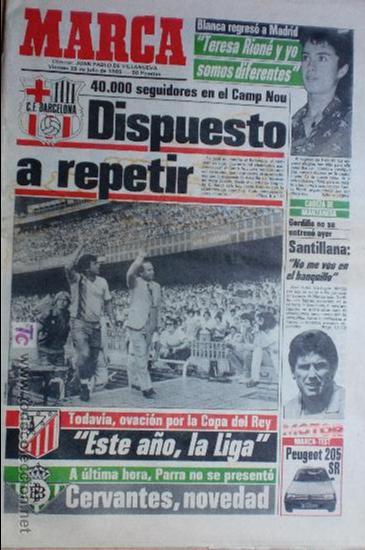 MARCA-1985-Nº13543-SANTILLANA-DA SILVA-AMARILLA-GORDILLO-BLANCA LACAMBRA (Coleccionismo Deportivo - Revistas y Periódicos - Marca)
