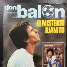 Colecionismo desportivo: REVISTA DON BALÓN NÚM 120- AÑO III - 26 ENERO 1FEBRERO DE 1978 -PÓSTER SAN JOSÉ REAL MADRID-JUANITO. Lote 46303191