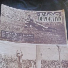 Coleccionismo deportivo - Vida Deportiva.Cesar,marca el primer gol para el Barcelona,El triunfo del Español.Año IX Nº 339.1952 - 46310171
