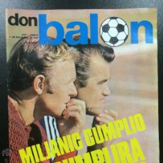 Colecionismo desportivo: REVISTA DON BALÓN NÚMERO 6 - AÑO I 11 NOVIEMBRE 1975- PÓSTER REAL MADRID EN EUROPA.. Lote 46419850