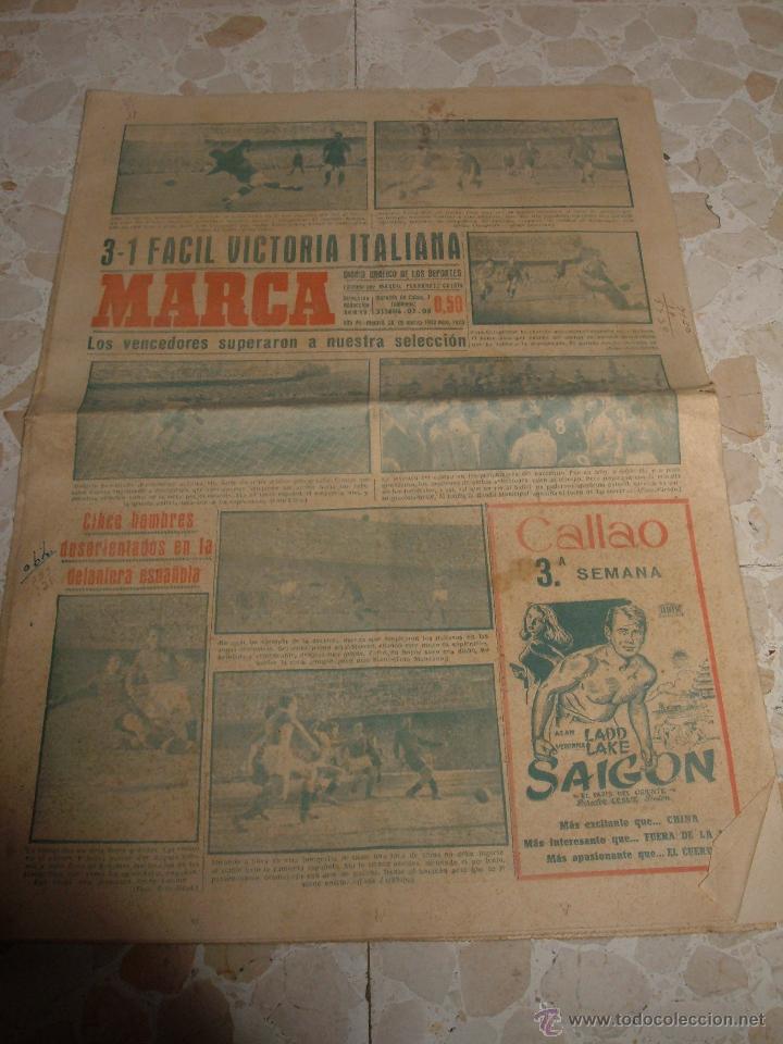 ANTIGUO PERIODICO MARCA, 1949 (Coleccionismo Deportivo - Revistas y Periódicos - Marca)