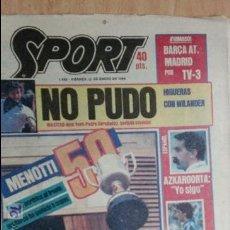 Coleccionismo deportivo: SPORT-Nº1492-1984-48 PAGINAS-MENOTTI- MARADONA-AZCKARGORTA-GIMENEZ. Lote 21071351