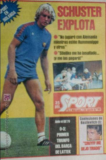 SPORT-Nº612-1981-SCHUSTER-POSTER CENTRAL PLANTILLA ESPAÑOL 82-36 PAGINAS (Coleccionismo Deportivo - Revistas y Periódicos - Sport)