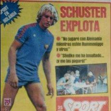 Coleccionismo deportivo: SPORT-Nº612-1981-SCHUSTER-POSTER CENTRAL PLANTILLA ESPAÑOL 82-36 PAGINAS. Lote 21071575