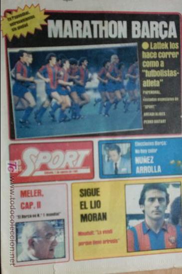 SPORT-Nº608-1981-36 PAGINAS-URRUTI-MORAN-UDO LATTEK-AMADOR-CUSTER-CANITO-CARRASCO-LUIS ARAGONES (Coleccionismo Deportivo - Revistas y Periódicos - Sport)
