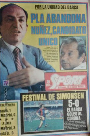 SPORT-1981-Nº617-NUÑEZ CANDIDATO-36 PAGINAS-MIGUEL ANGEL-SIMONSEN-ESTEBAN-SCHUSTER-URRUTI (Coleccionismo Deportivo - Revistas y Periódicos - Sport)