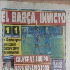 Coleccionismo deportivo: SPORT-1991-Nº4218-EL BARSA INVICTO-. Lote 21135447