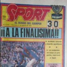 Coleccionismo deportivo: SPORT-1985-Nº2078-JULIO ALBERTO-CARRASCO-VENABLES-SCHUSTER-CRUYFF-STIELEKE. Lote 21148354